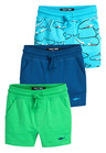 Next Shark Shorts Three Pack (3mths-7yrs)