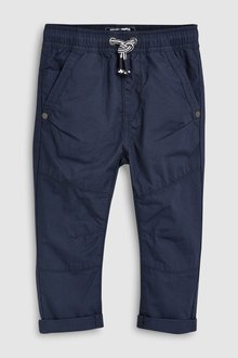 Next Navy Pull-On Trousers - 243540