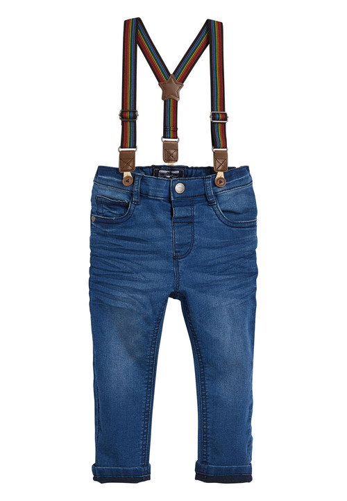 Next Bright Blue Rainbow Braced Jeans