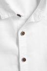 Next White Short Sleeved Linen Blend Shirt
