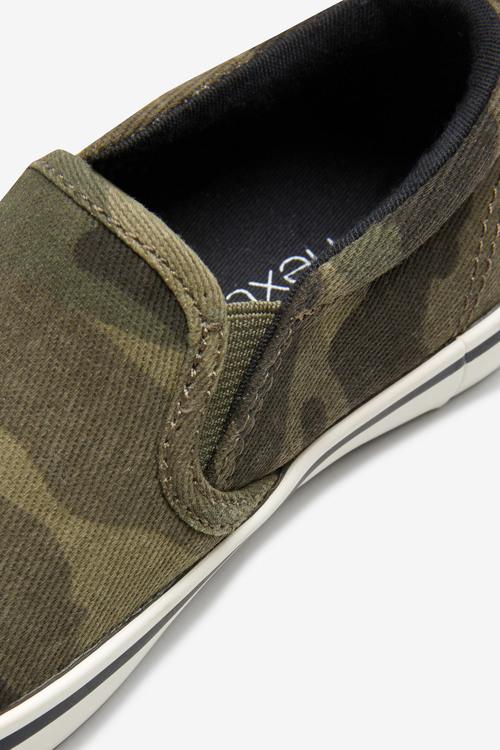 Next Camouflage Slip-Ons