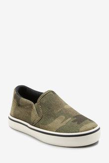 Next Camouflage Slip-Ons - 243561