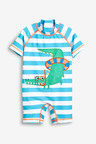 Next Blue Stripe Crocodile Sunsafe Suit (3mth-7yrs)