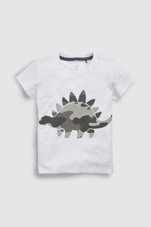 Next White 3D Camo Dino T-Shirt