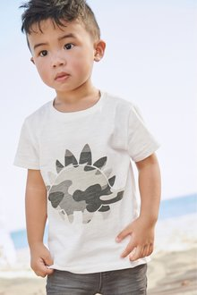 Next White 3D Camo Dino T-Shirt - 243576