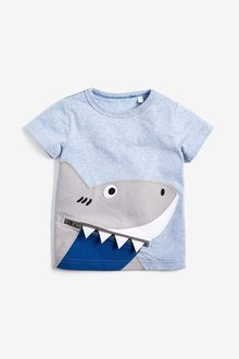 Next Shark Zip T-Shirt (3mths-7yrs) - 243578
