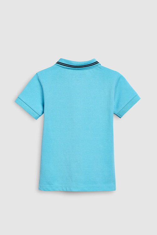 Next Light Blue Short Sleeve Polo