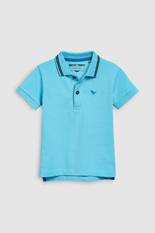 Next Light Blue Short Sleeve Polo - 243582