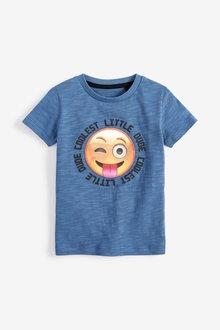 Next Blue Smile Face Lenticular T-Shirt (3mths-7yrs) - 243589
