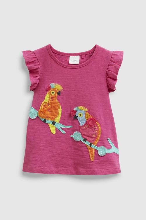 Next Bright Pink Cockatoo Embellished Vest