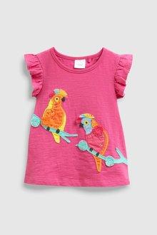 Next Bright Pink Cockatoo Embellished Vest - 243628