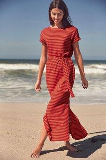 Next Red Stripe Midi Dress - 243696