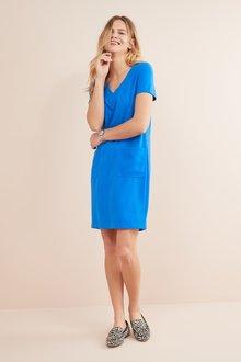 Next Cobalt V-Neck Shift Dress - 243699