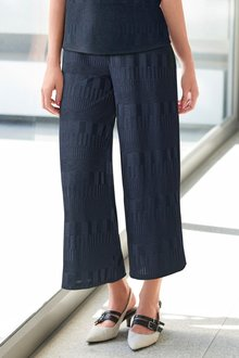 Next Navy Textured Rib Culottes - 243708