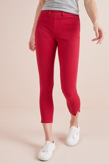 Next Red Jersey Cropped Leggings - 243712