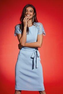 Next Lace Cap Sleeve Dress