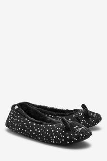 Next Cora' Cat Ballerina Slippers