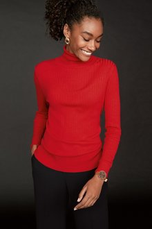 Next Rib Roll Neck Jumper-Tall