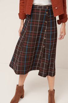 Next Button Midi Skirt