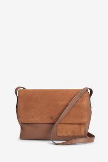 Next Leather Pocket Detail Across-Body Bag