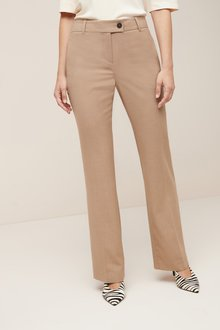 Next Sharkskin Texture Boot Cut Trousers - 244114