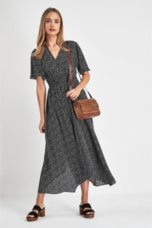 Next Shirred Waist Maxi Dress
