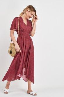 Next Shirred Waist Maxi Dress