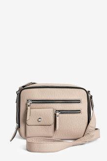 Next Zip Detail Across-Body Bag