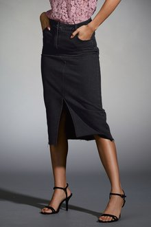Next Denim Midi Skirt-Tall