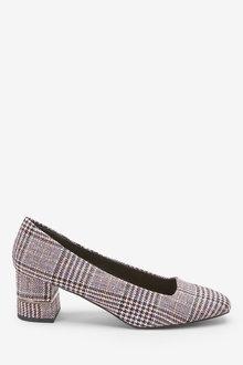Next Square Toe Block Court Shoes