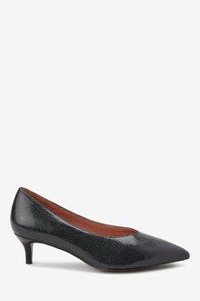 Next Forever Comfort Kitten Heel Court Shoes-Wide