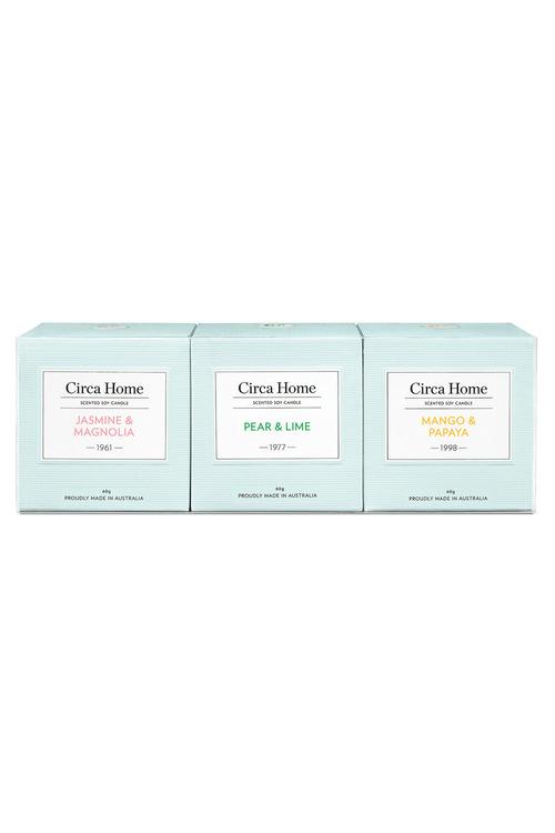 Circa Home Miniture Candle Trio