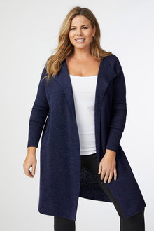 Plus Size - Sara Merino Long Cardi - 244522