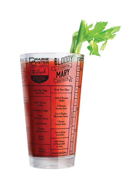 Fred Good Measure Hangover Recipe Glass