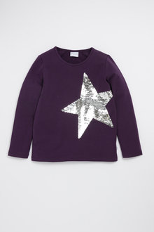 Pumpkin Patch Flippy Star Sequin Tee