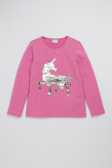 Pumpkin Patch Flippy Unicorn Sequin Tee
