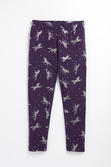 Pumpkin Patch Unicorn Star Leggings