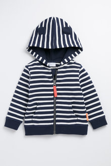 Pumpkin Patch Stripe Hoodie with Ears