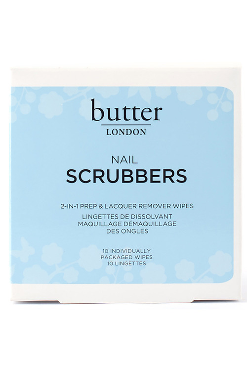 butter LONDON Scrubbers 2 in 1 Prep Remover Wipes