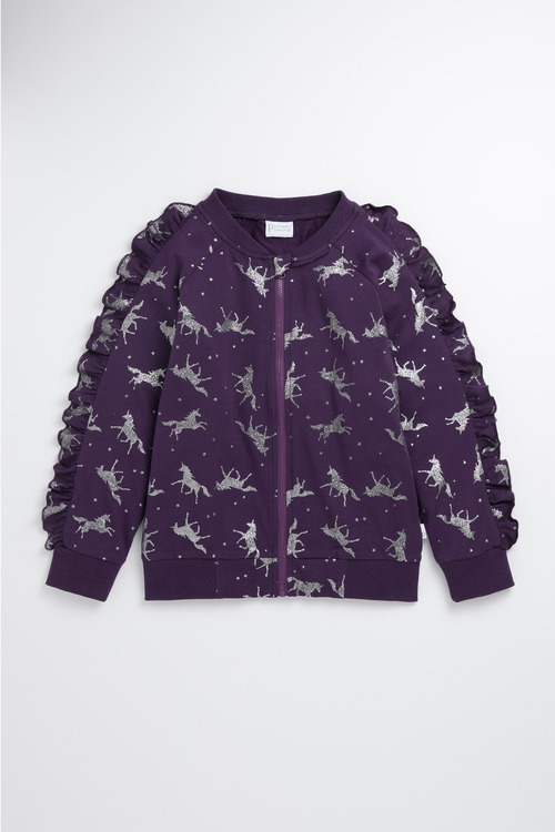 Pumpkin Patch Zip Front Unicorn Jacket