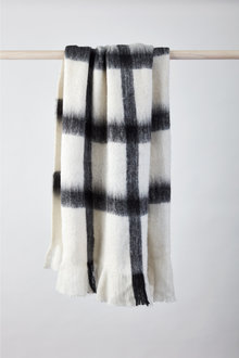 Faux Mohair Checked Throw - 245203