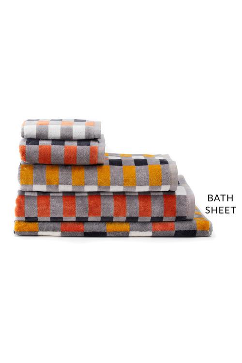 Check Velour Bath Sheet