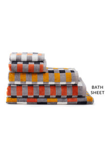 Check Velour Bath Sheet