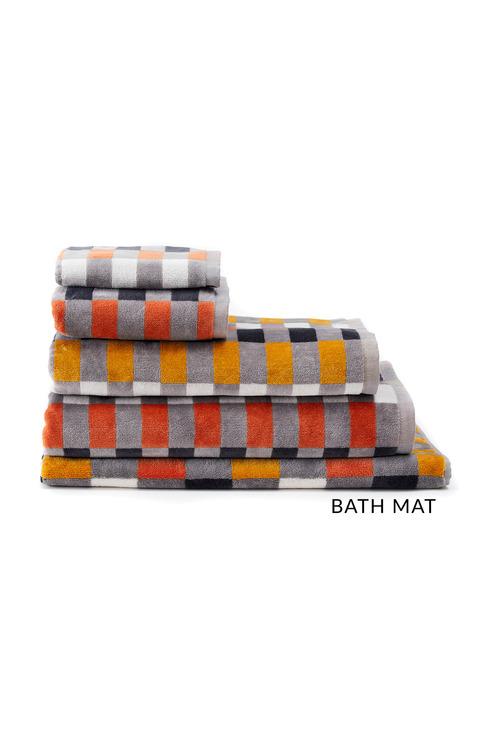 Check Velour Bath Mat