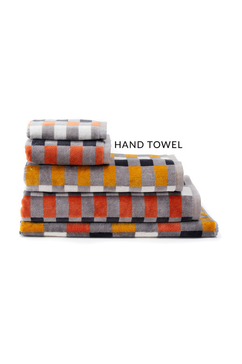 Check Velour Hand Towel
