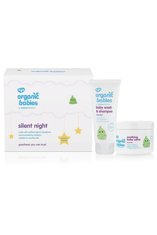 GREEN PEOPLE Silent Night Baby Gift Lavender Wash & Salve