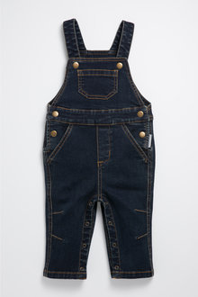 Pumpkin Patch Knit Denim Overalls