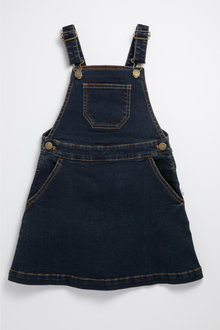 Pumpkin Patch Stretch Denim Pinafore