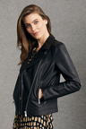 Grace Hill Minimalist Leather Biker Jacket