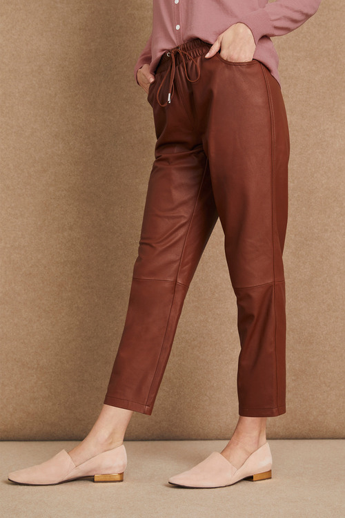 Grace Hill Leather Joggers